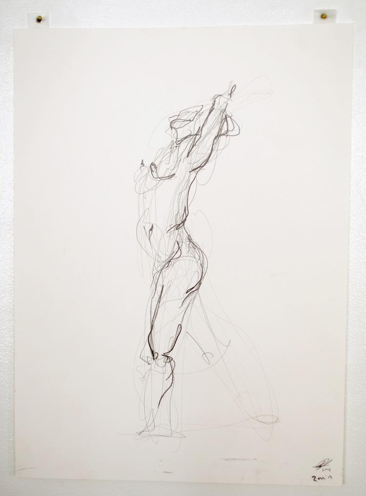 'Standing movement no. 1', 2017, ett konstverk av Cecilia Ulfsdotter Klementsson