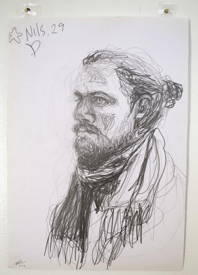 'Nils, 29 ', 2017, ett konstverk av Cecilia Ulfsdotter Klementsson
