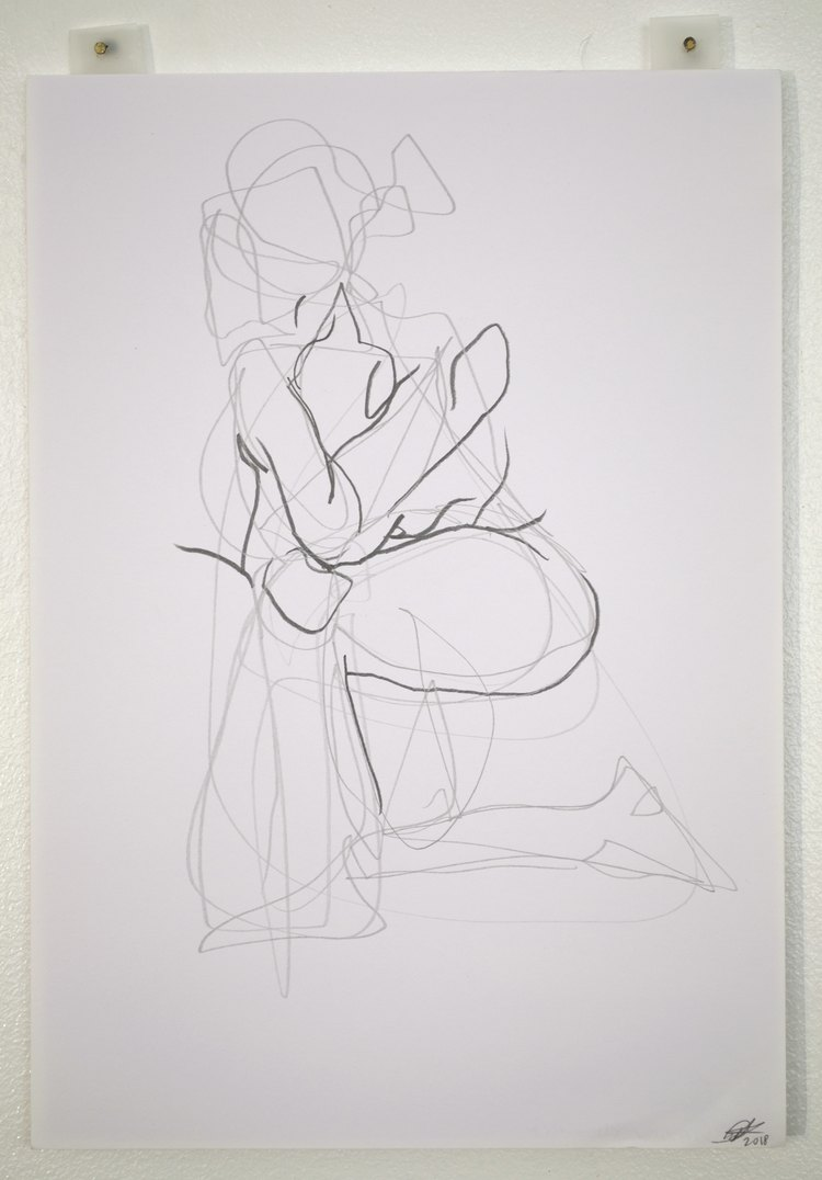 'Two minute moves of a woman no. 2', 2018, ett konstverk av Cecilia Ulfsdotter Klementsson