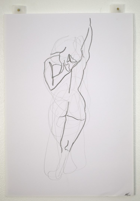 'Arm stretches no. 2', 2018, ett konstverk av Cecilia Ulfsdotter Klementsson