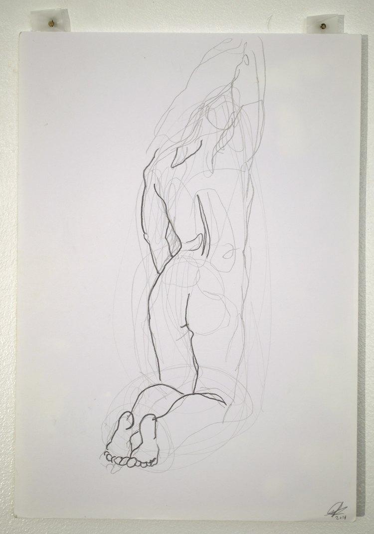 'Back butt toes', 2018, ett konstverk av Cecilia Ulfsdotter Klementsson