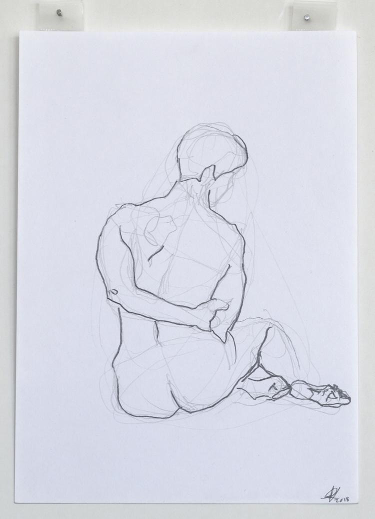 'Bold outlines no. 2', 2018, ett konstverk av Cecilia Ulfsdotter Klementsson