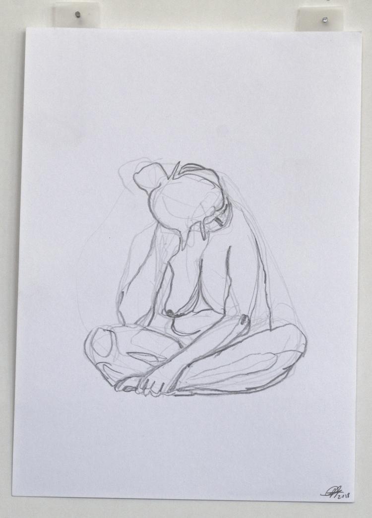 'Outlined lady no. 1', 2018, ett konstverk av Cecilia Ulfsdotter Klementsson