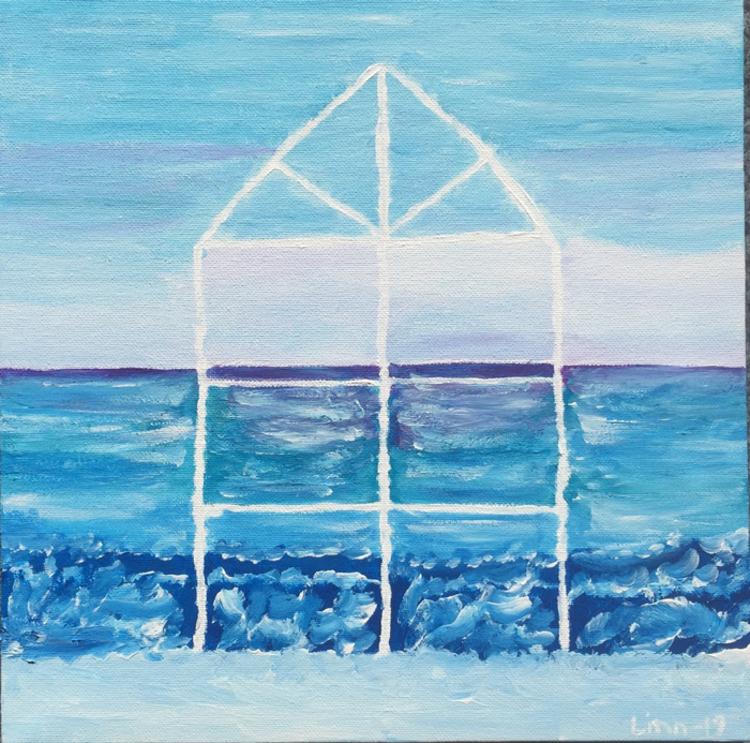 'Havets fönster', 2019, ett konstverk av Linn Henrysson