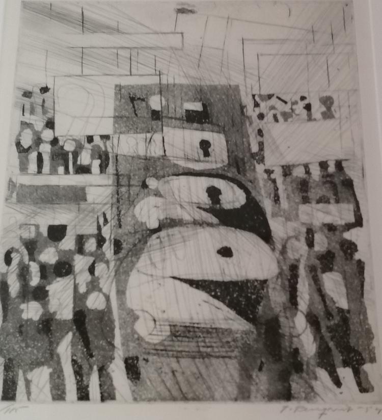 'Trafiken på Drottninggatan', 2019, ett konstverk av Torsten Renqvist