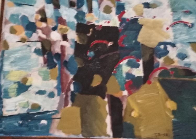 'Molnet i Trädet', 2019, ett konstverk av Torsten Renqvist