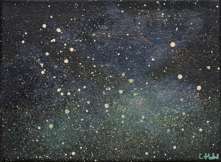 'Vinternatt', 2019, ett konstverk av Cecilia Hedlund
