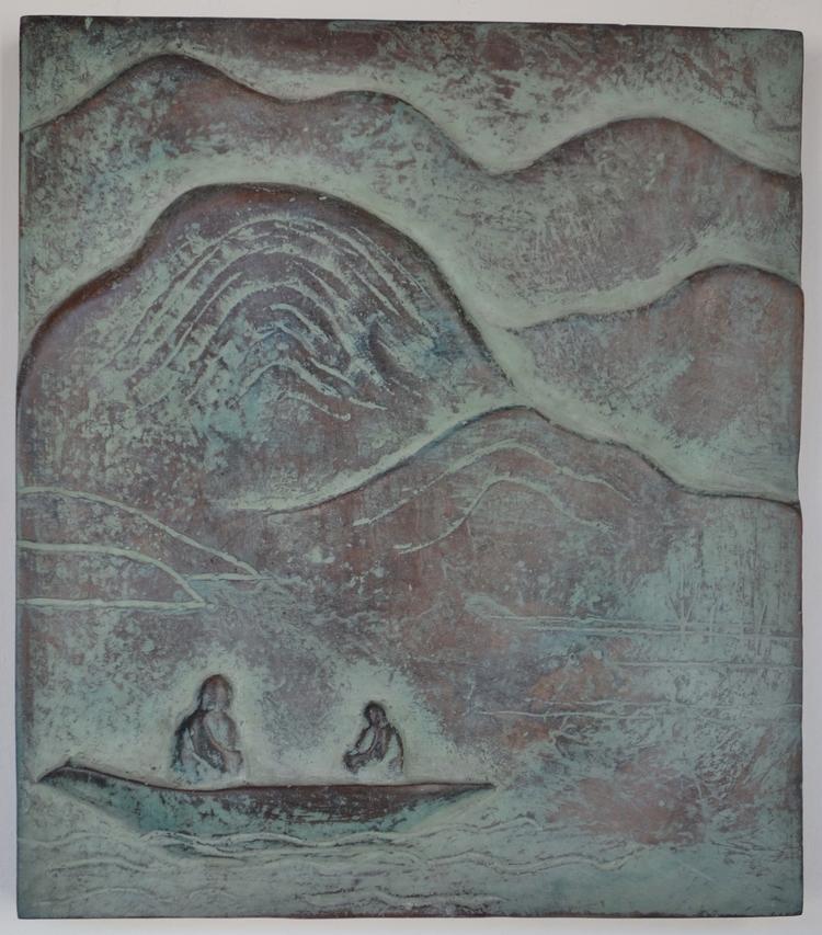 'På sjön / On the lake', 2016, ett konstverk av Ann Carlsson Korneev