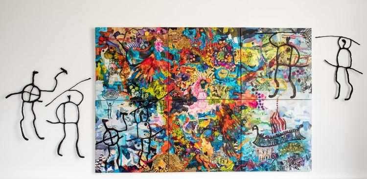 'Tracks', 2018, ett konstverk av Lena Svedjeholm