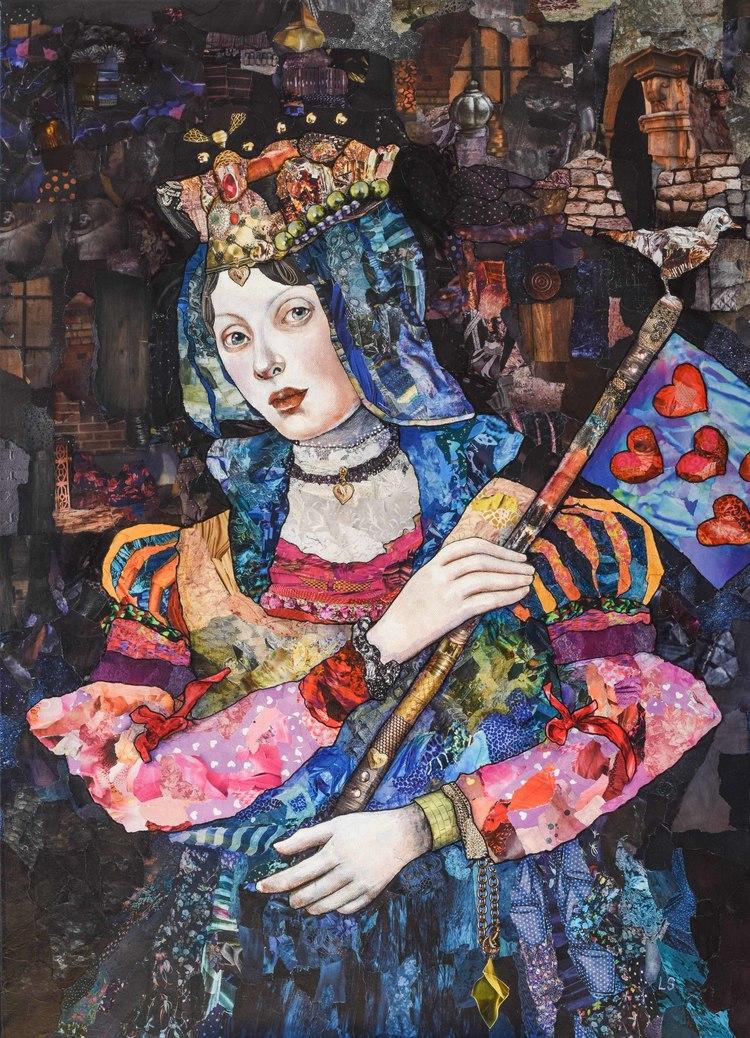 'Queen of Hearts', 2019, ett konstverk av Lena Svedjeholm