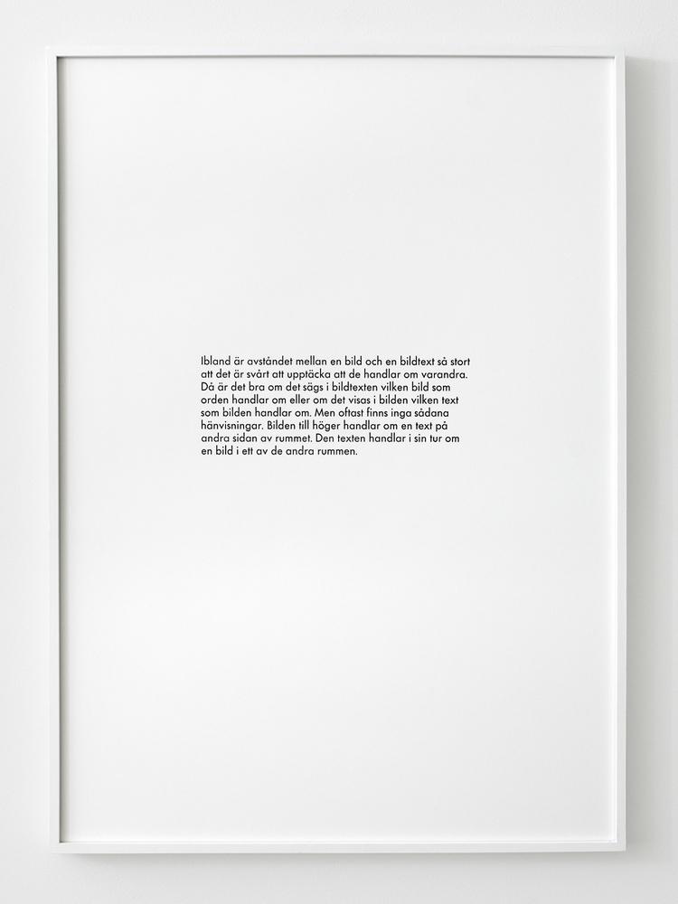 'Ibland stort', 2019, ett konstverk av Simon Skuteli