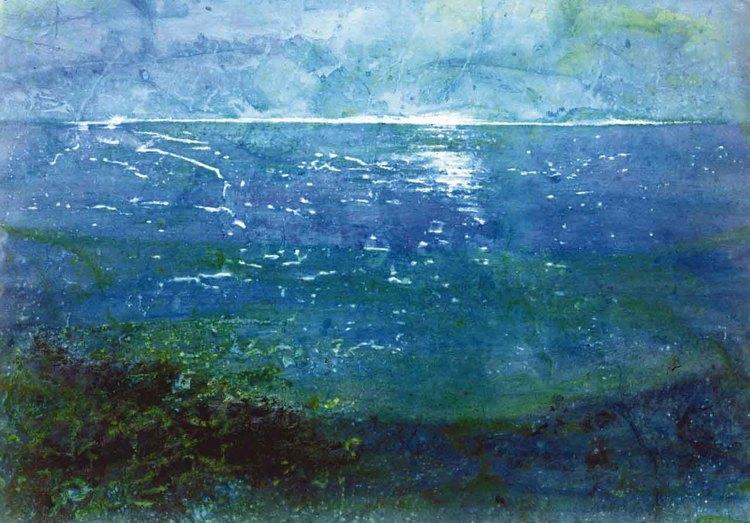 'Havshorisonten I', ett konstverk av Hanna Gumowska Wagnås