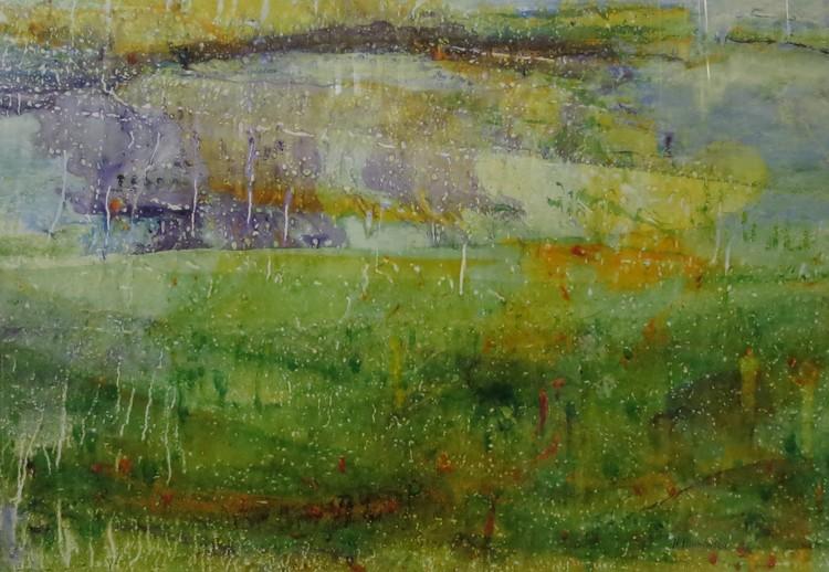 'Höstlandskap ', ett konstverk av Hanna Gumowska Wagnås