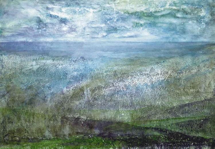 'Det blå landskapet', ett konstverk av Hanna Gumowska Wagnås