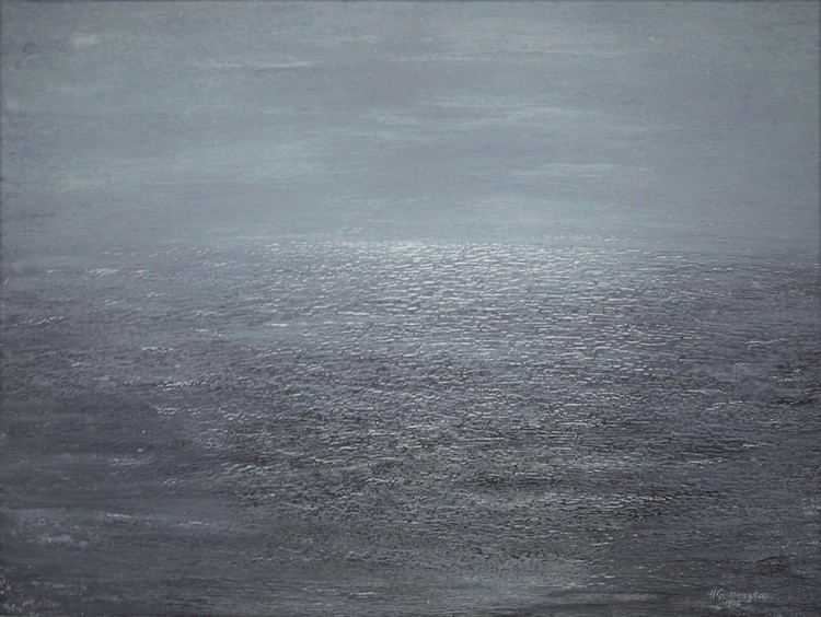 'Havshorisonten II', ett konstverk av Hanna Gumowska Wagnås