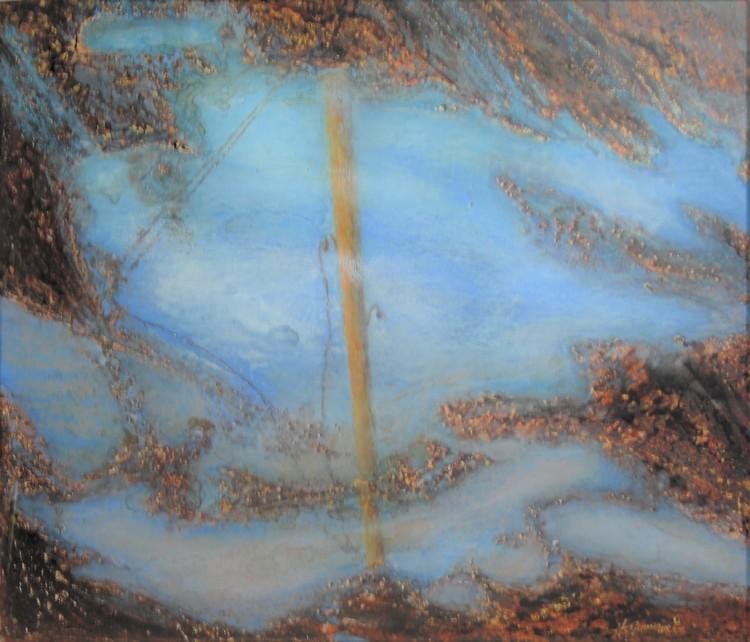 'Vattenspegel II', ett konstverk av Hanna Gumowska Wagnås