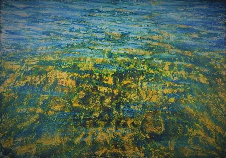 'Undervattens strukturer III', ett konstverk av Hanna Gumowska Wagnås