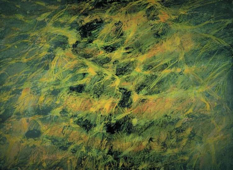 'Undervattens strukturer II', ett konstverk av Hanna Gumowska Wagnås