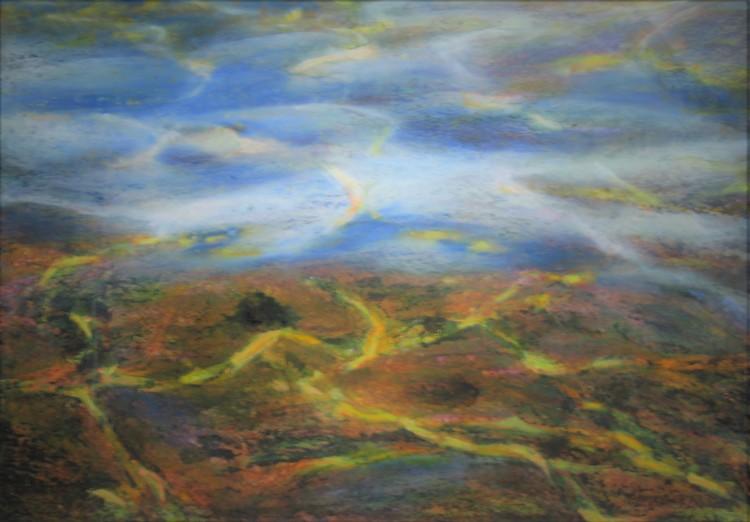 'Undervattens strukturer I', ett konstverk av Hanna Gumowska Wagnås