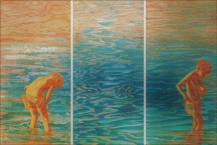 'Sommarminnen', ett konstverk av Hanna Gumowska Wagnås