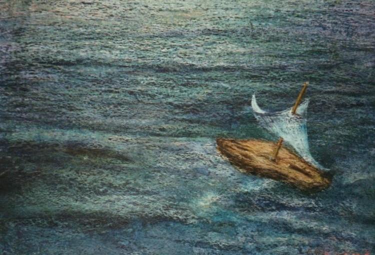 'Med vinden', ett konstverk av Hanna Gumowska Wagnås
