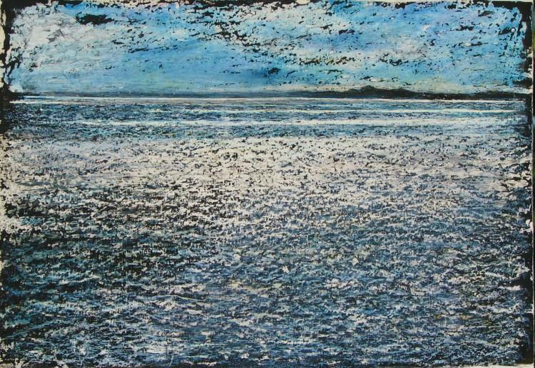 'Vättern I', ett konstverk av Hanna Gumowska Wagnås