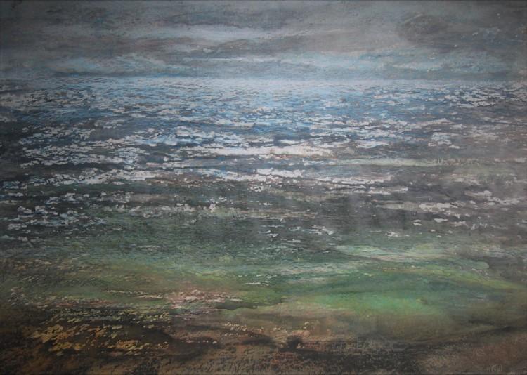 'Havslandskap', ett konstverk av Hanna Gumowska Wagnås