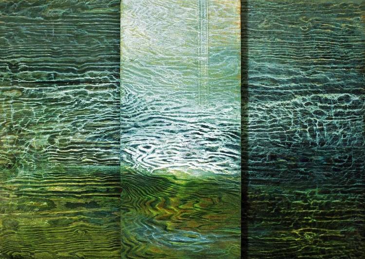 'Vattenstrukturer', ett konstverk av Hanna Gumowska Wagnås