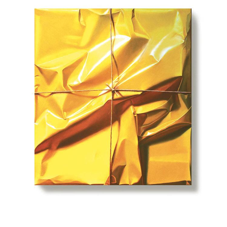 'Stringed yellow paper', 2013, ett konstverk av Yrjö Edelmann