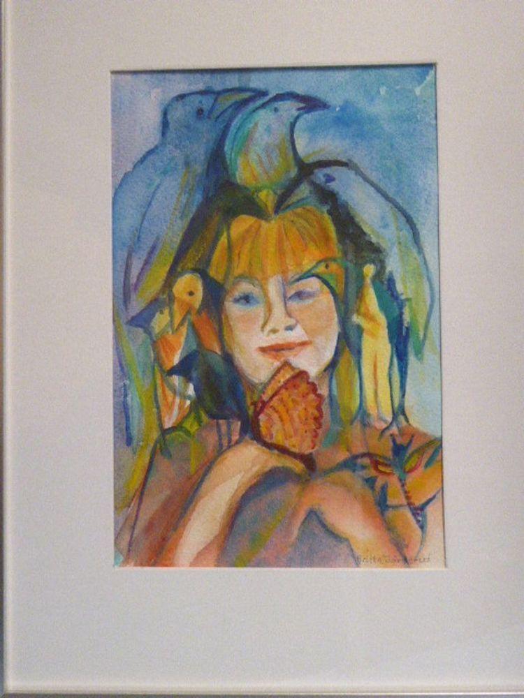 'Bevingad, Akvarell', ett konstverk av Britta Järverud