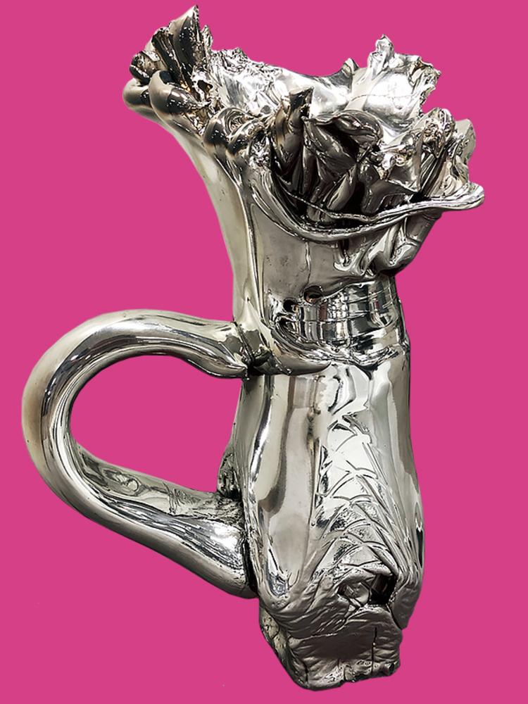 'Silver Piece * ', 2019, ett konstverk av Fredrik Nielsen