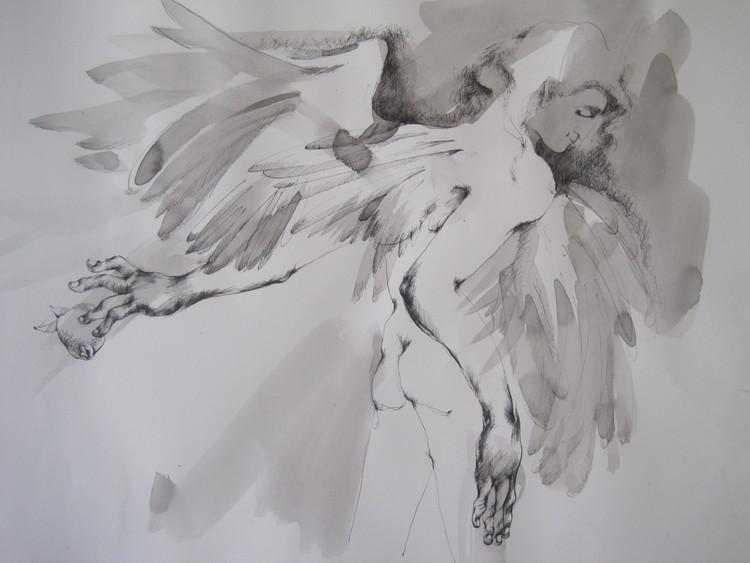 'Angelo', 2017, ett konstverk av Lara Simonof