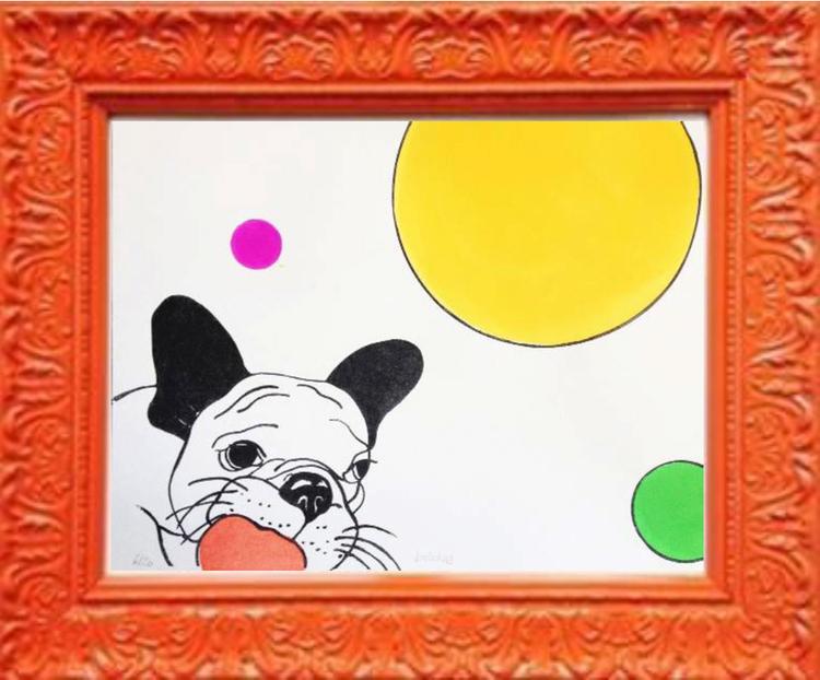 'Bulldog', 2015, ett konstverk av Carmen Lindahl