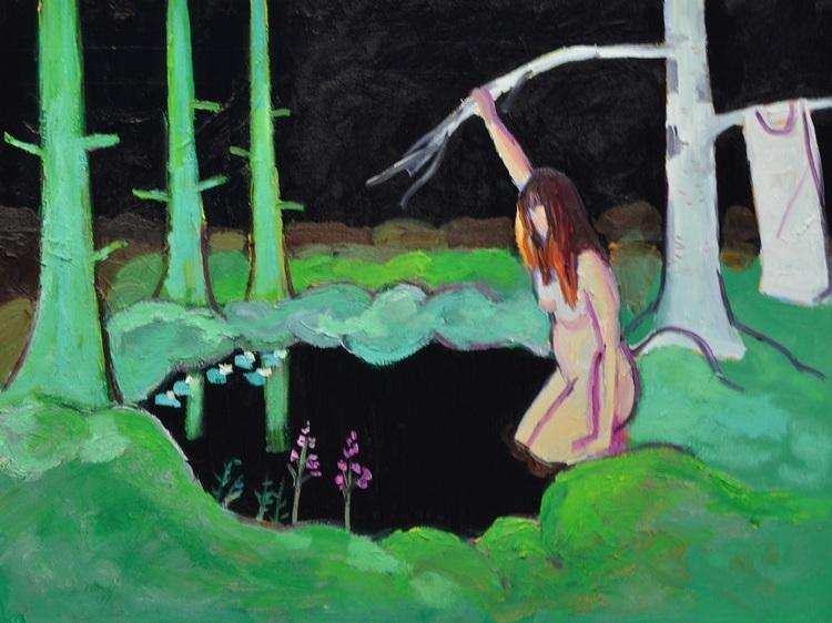 'Badet', 2013, ett konstverk av Henrik Olsson