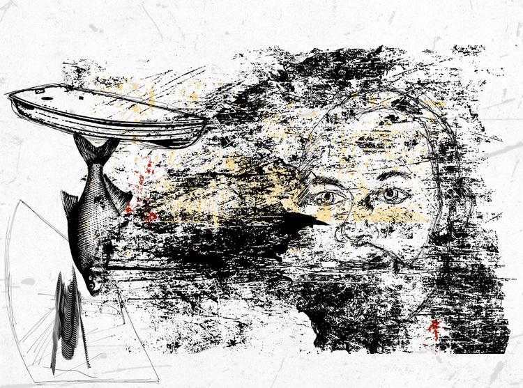 'Faces 2', 2020, ett konstverk av Tibor Jaeger