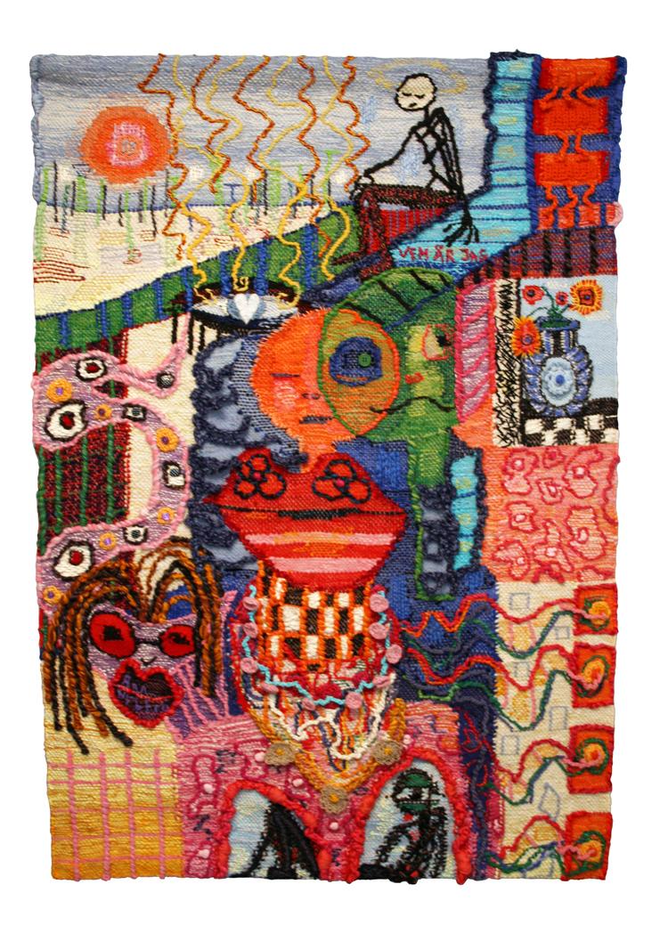 'Mess of Blues', 2018, ett konstverk av Ann Nyberg