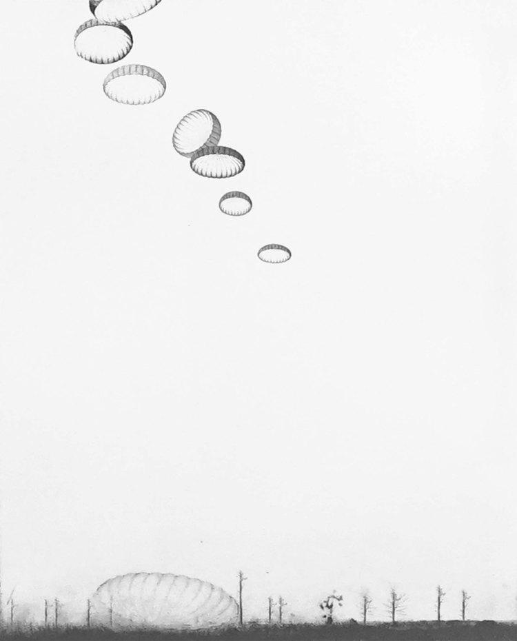'Olika platser II', 2017, ett konstverk av Nina Kerola