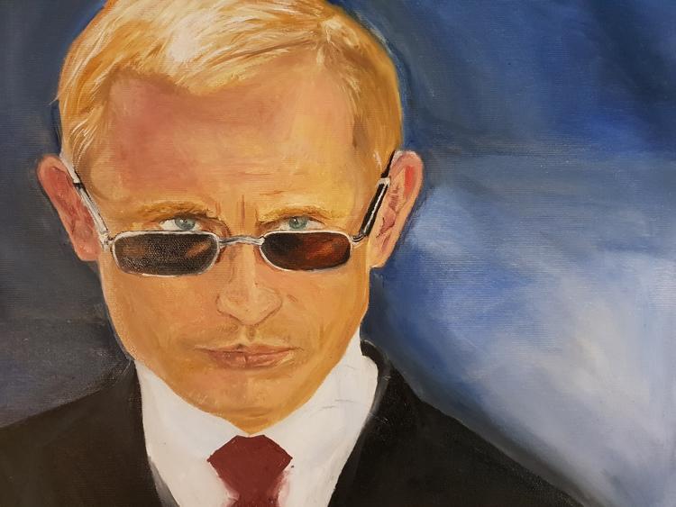 'Is it as you thought it would be Mr Putin?', 2019, ett konstverk av Annamaria Johansson