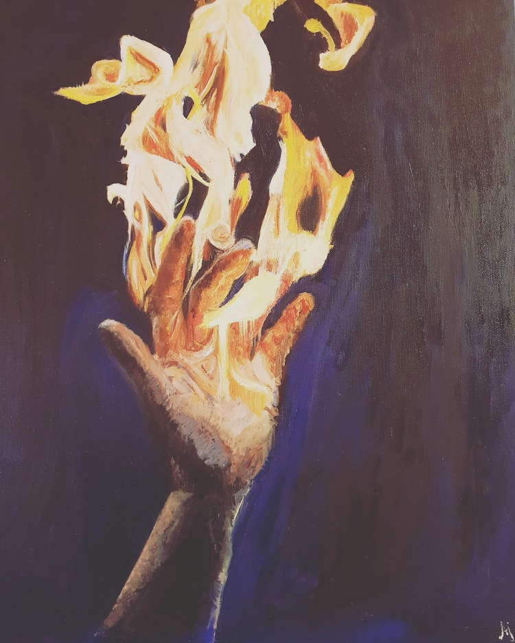 'Catch the fire ', 2020, ett konstverk av Annamaria Johansson