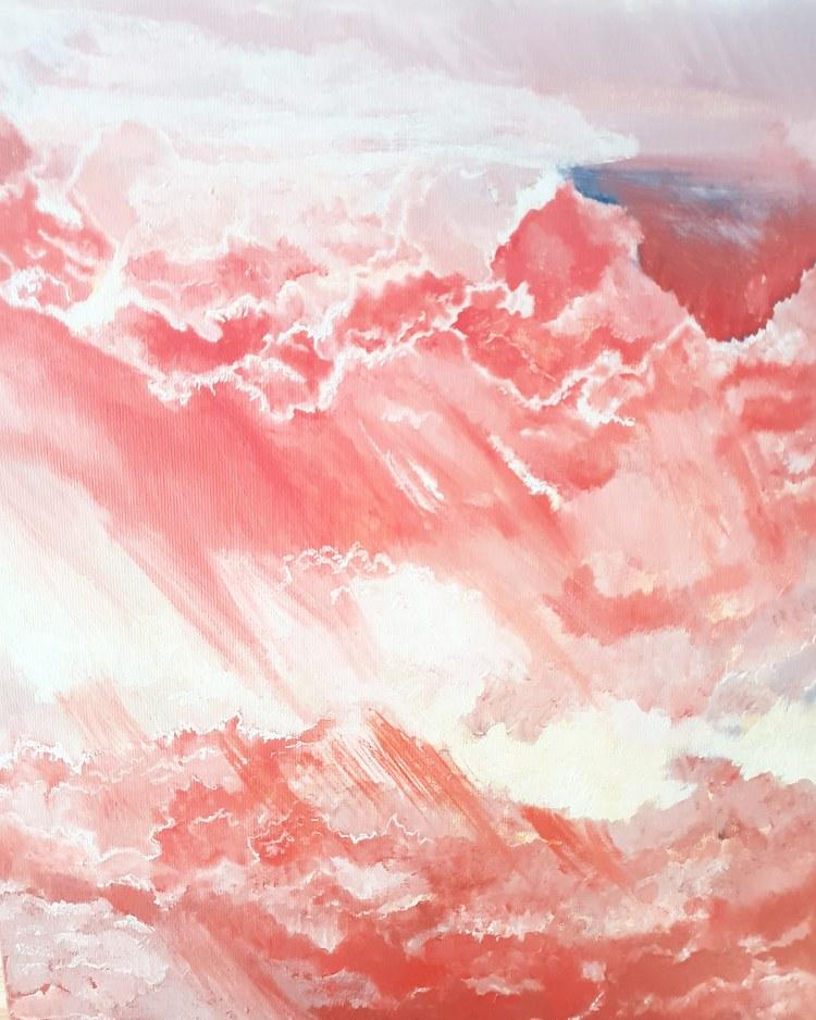'Bleeding sky', 2020, ett konstverk av Annamaria Johansson