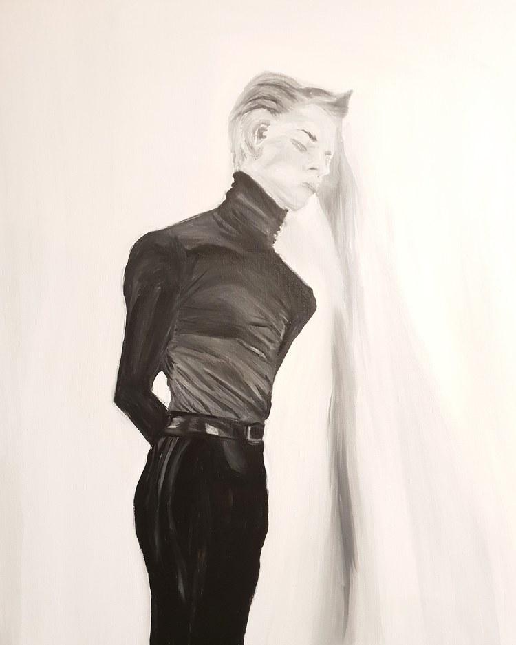 'Social distance ', 2020, ett konstverk av Annamaria Johansson