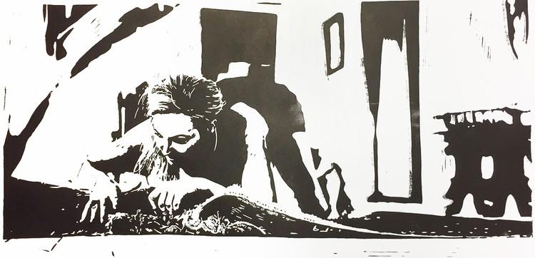 'Blotta', 2019, ett konstverk av Marcus Bagge