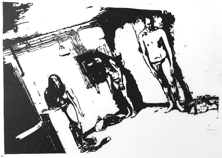 'Tillflykt', 2020, ett konstverk av Marcus Bagge
