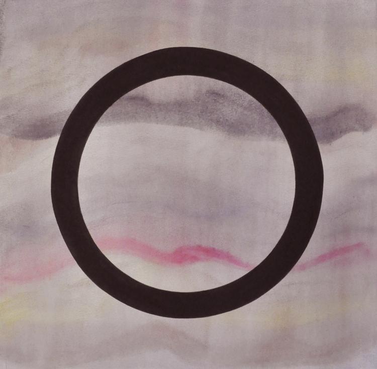 'Circle XXII (Red Wave)', 2015, ett konstverk av Sofi Lardner Häggström
