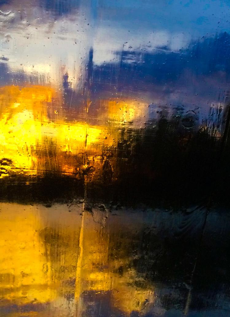 'Flames in dawn', 2015, ett konstverk av Robert Ekegren