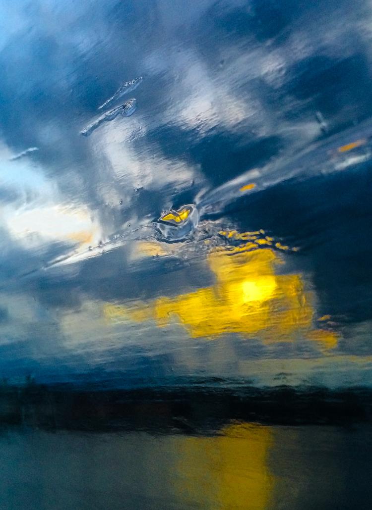 'Blue wind', 2019, ett konstverk av Robert Ekegren