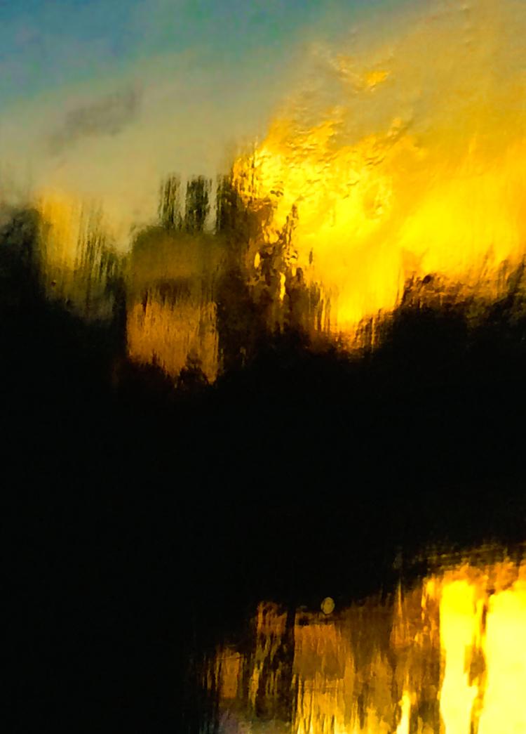 'Flaming sky', 2019, ett konstverk av Robert Ekegren