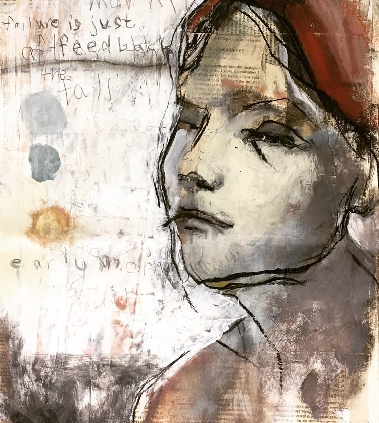 'Early Morning Fall', 2019, ett konstverk av Victoria Engholm