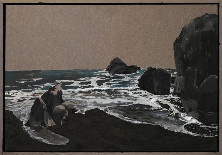 'Lost coast', 2019, ett konstverk av Samuel Sander