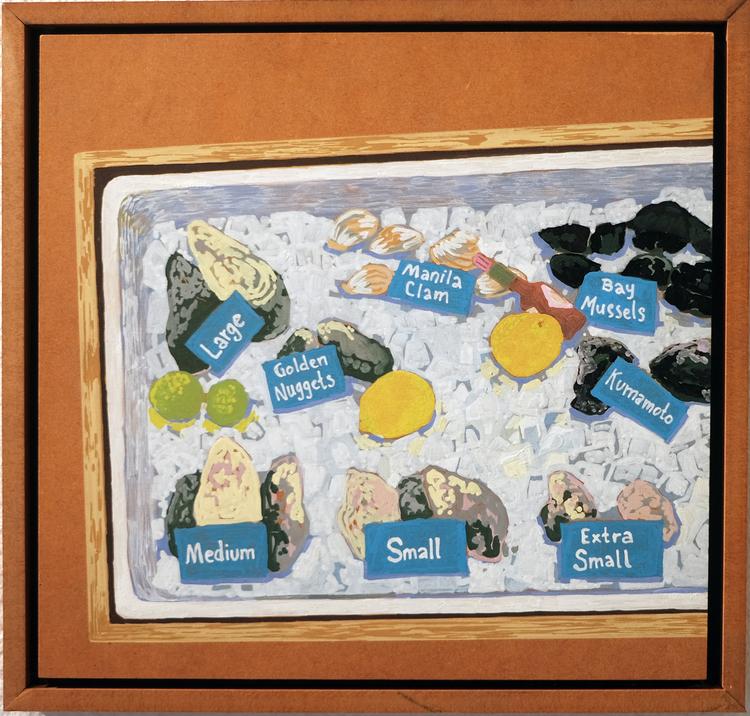 'Tomales Bay Seafood', 2019, ett konstverk av Samuel Sander